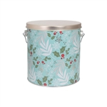 One Gallon Popcorn Tin Pail - Winter Charm
