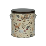 One Gallon Popcorn Tin Pail - Woodland Creatures