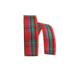 Regalia Plaid Polyester Ribbon