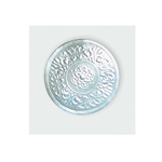 "1-1/4"" Silver Embossed Medallion Seals"