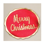 "2-1/4"" Merry Christmas Embossed Seals"