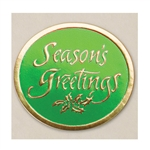 "2"" Season's Greetings Embossed Seals"