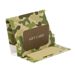 Camo Reflections Presentation Pop Up Gift Card Folders