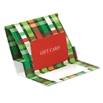Christmas Weave Presentation Pop Up Gift Card Folders