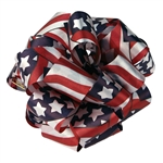 Patriot USA Flag Flora Satin Ribbon