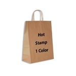1 Color Hot Stamped Antelope Kraft Paper Shopping Bag