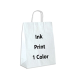 1 Color Ink-Printed Antelope White Kraft Paper Shopping Bag