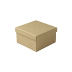 Medium Deep Brown Kraft Jewelry Boxes