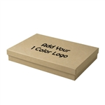 Hot-Stamped Large Kraft Jewelry Boxes
