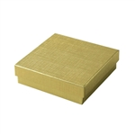 Medium Gold Linen Foil Jewelry Boxes