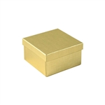 Medium Deep Gold Linen Foil Jewelry Boxes