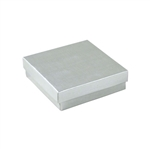 Medium Silver Linen Foil Jewelry Boxes