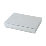 Large Silver Linen Foil Jewelry Boxes