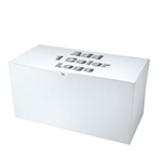 "Hot-Stamped 12"" x 6"" x 6"" White Gift Boxes"