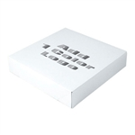 "Hot-Stamped 12 x 12"" x 2-1/2"" White Gift Boxes"
