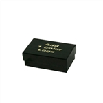Small Black Gloss Jewelry Boxes Custom Printed