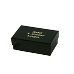 1 Color Hot-Stamped Black Gloss Jewelry Boxes