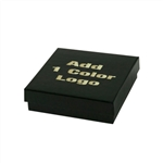 Medium Black Gloss Jewelry Boxes Hot-Stamped
