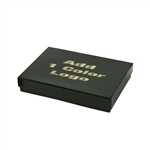 Hot-Stamped Large Black Gloss Jewelry Boxes