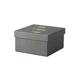 Hot-Stamp Printed Slate Gray  Jewelry Boxes