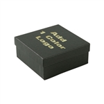 Medium Black Kraft Pinstripe Jewelry Boxes