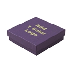 Medium Deep Purple Jewelry Boxes Hot-Stamped