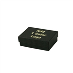 1 Color Hot-Stamped Black Kraft Pinstripe Jewelry Boxes