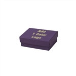 1 Color Hot-Stamped Deep Purple Jewelry Boxes