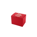 "Hot-Stamped 6"" x 4-1/2"" x 4-1/2"" Red Gift Boxes"