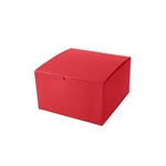 "10"" x 10"" x 6"" Red Tuck-It Gift Boxes"