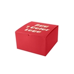 "Hot-Stamped 10"" x 10"" x 6"" Red Gift Boxes"
