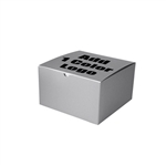 "Hot-Stamped 10"" x 10"" x 6"" Silver Gift Boxes"