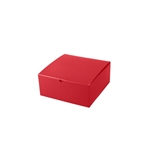 "8"" x 8"" x 3-1/2"" Red Tuck-It Gift Boxes"