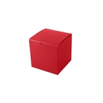 "6"" x 6"" x 6"" Red Tuck-It Gift Boxes"