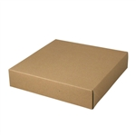 "12"" x 12"" x 2-1/2"" Kraft Pinstripe Tuck-It Gift Boxes"