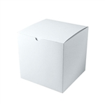 "White Gift Boxes Tuck-It One Piece Pop Up 9"" x 9"" x 9"""