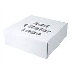 "Hot-Stamped 14 x 14"" x 3"" White Gift Boxes"