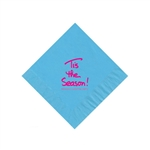 Holiday Beverage Napkins - Bermuda Blue