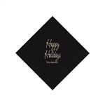 Holiday Beverage Napkins - Black