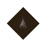 Holiday Beverage Napkins - Chocolate Brown