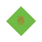 Holiday Beverage Napkins - Citrus Green