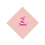 Holiday Beverage Napkins - Classic Pink