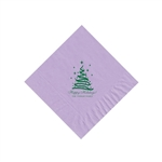 Holiday Beverage Napkins - Lavender