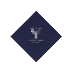 Holiday Beverage Napkins - Navy Blue