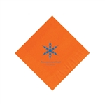 Holiday Beverage Napkins - Orange