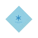 Holiday Beverage Napkins - Pastel Blue