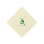 Holiday Beverage Napkins - Warm White