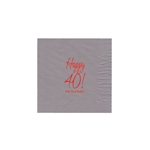 Party Beverage Napkins - Silver