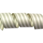 Grey & Cream Crimped Stripes Cotton Curling Ribbon
