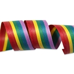 Rainbow Stripe Cotton Curling Ribbon